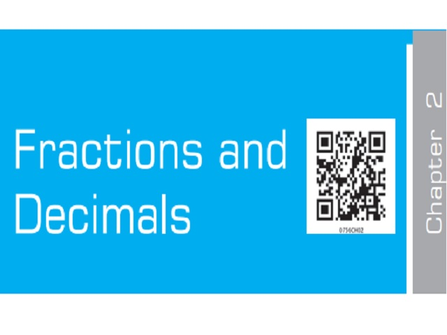 Fractions and Decimals - Chapter 2: Class 7 Maths NCERT Book (PDF)