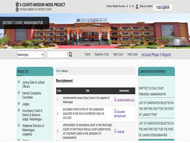District Judge Nabarangpur Recruitment 2021: Apply Stenographer Gr III, Jr Clerk-cum-Copyist & Jr Typist Posts