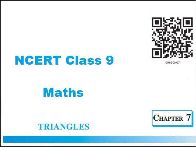 NCERT Class 9 Maths Chapter 7 Triangles