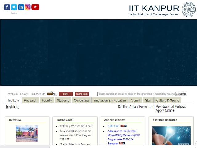 IIT Kanpur Recruitment 2021: Apply Deputy Project Manager Posts