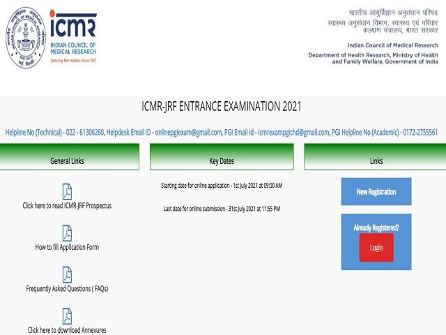 ICMR JRF Exam 2021