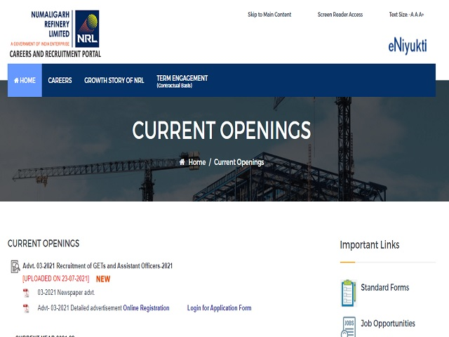NRL Recruitment 2021: Apply for Graduate Engineer Trainee, Assistant Officer & Other Posts