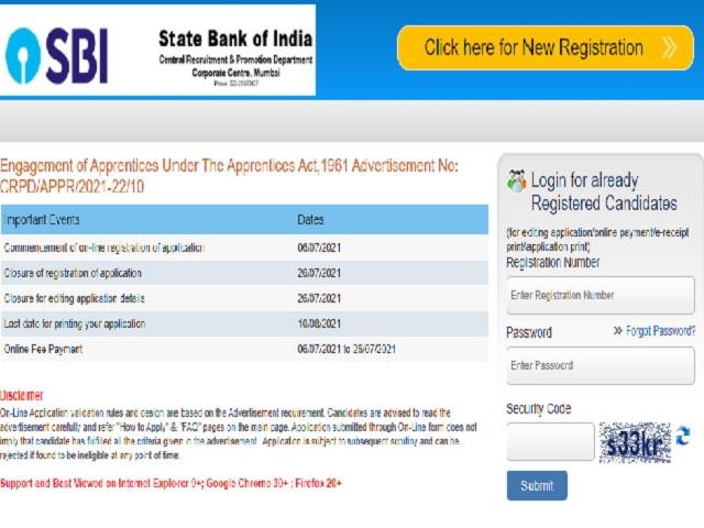 SBI Apprentice Recruitment 2021