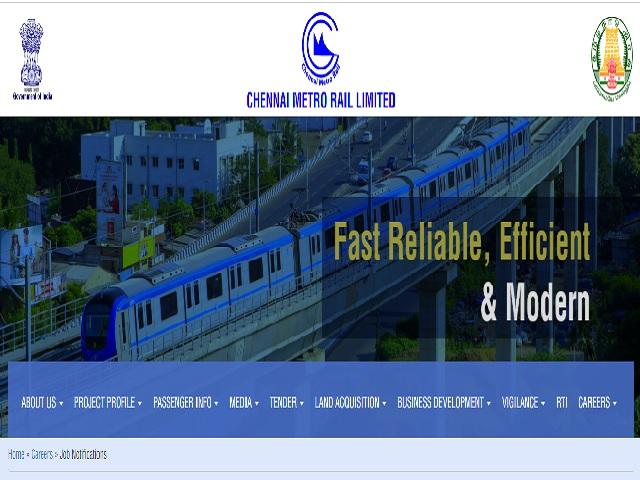 Chennai Metro Recruitment