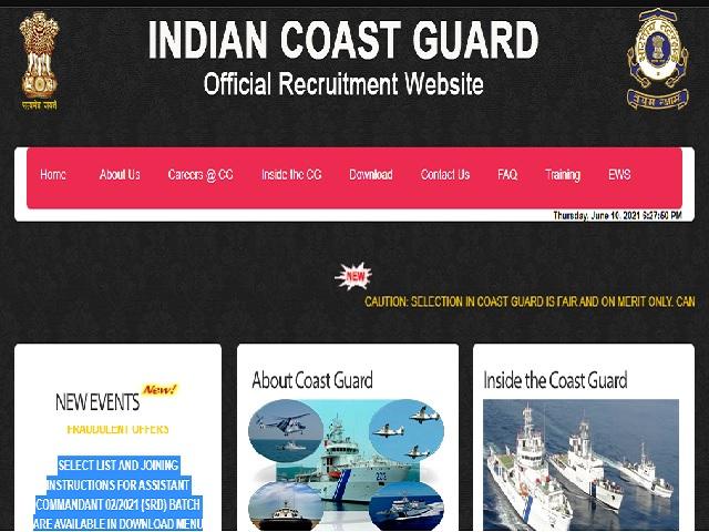 Coast Guard Asst Commandant (SRD) 02/2021 Result