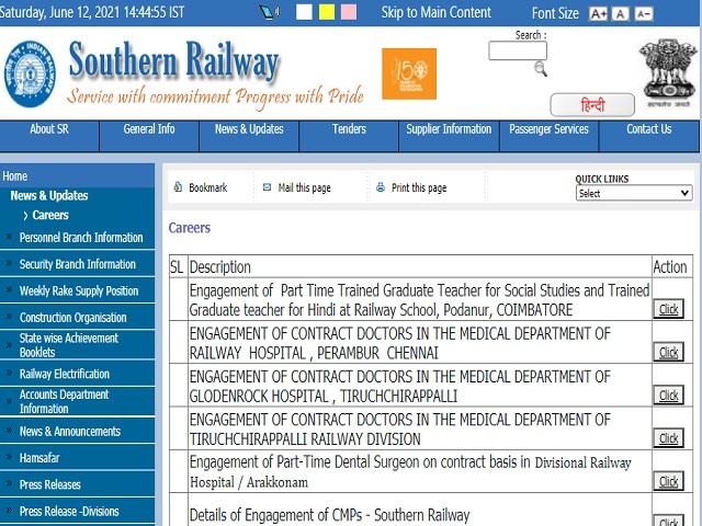 indian railway teacher vacancy 2021