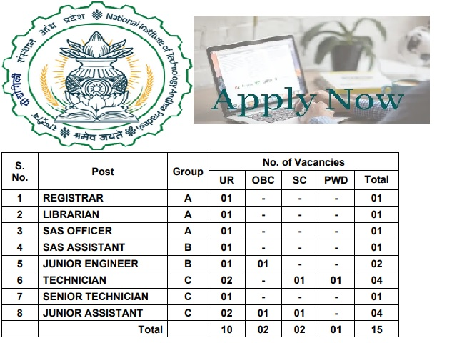 NIT Andhra Pradesh Recruitment 2021: Apply Registrar, Librarian, Sas Officer & Other Posts