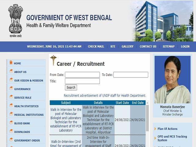 Paschim Medinipur Staff Nurse Posts