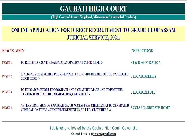 Gauhati High Court Recruitment 2021,