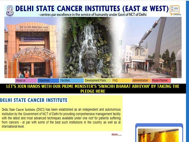 Delhi State Cancer Institute (DSCI) Senior Resident Posts