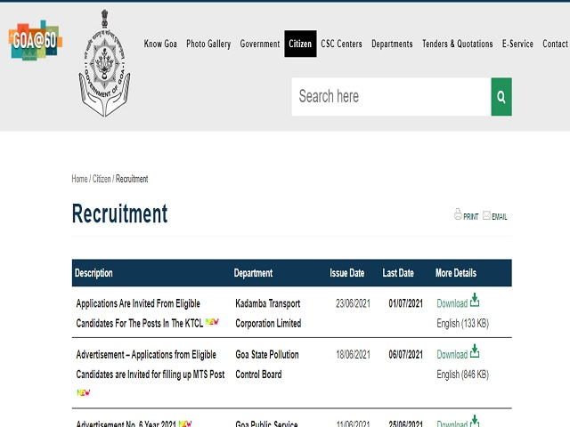 KTCL Recruitment 2021: Apply Assistant Traffic Inspector, Cashier cum LDC & Other Posts
