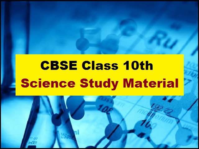 CBSE Class 10 Science Study Material for Academic Session 2021-2022