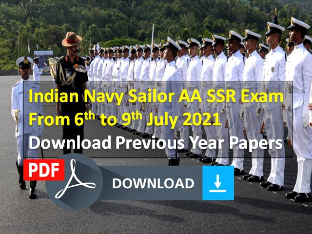 Indian Navy Sailor AA SSR Exam Previous Year Papers (Download PDF): Get Exam Papers for Free Here! Written Test & PFT from 6th to 9th July 2021