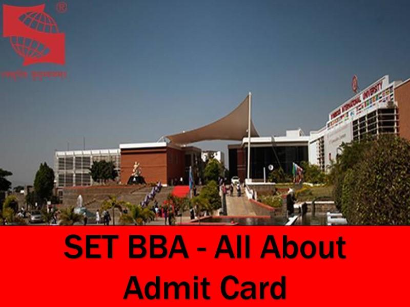 SET BBA Admit Card 2021