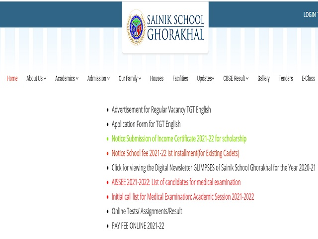 Sainik School Ghorakhal, Nainital Recruitment 2021: Apply TGT Posts