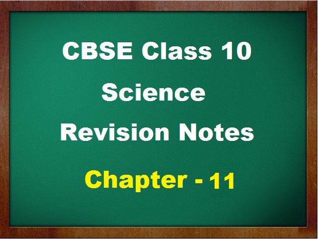 CBSE Class 10 Science Revision Notes for Chapter 11