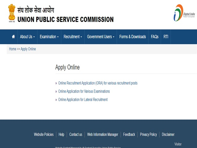 UPSC Recruitment 2021: Apply Online for 13 Deputy Secretary, Group 'A Posts @upsc.gov.in