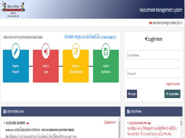 SSA Gujarat CRC Coordinator Recruitment 2021 Notification Released