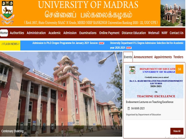 Madras University Recruitment 2021: Apply for Technical Staff, Field Investigators, Office Staff & Office Assistant Posts