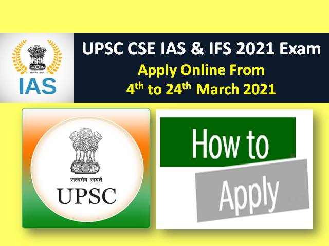 UPSC IAS/IFS 2021 Civil Services Exam (CSE) Registration Ends Today @upsconline.nic.in (Till 24th March 6:00 PM): Check How to Apply Online!