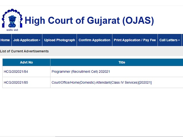Gujarat High Court Recruitment 2021: Apply for Court Attendant and Other Posts