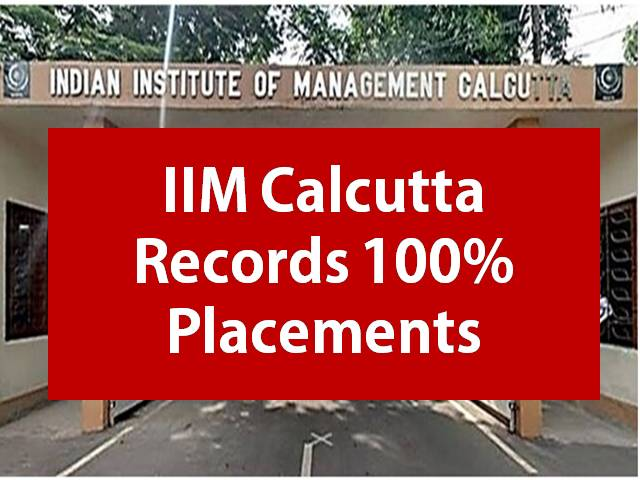 IIM Calcutta Placement 2021