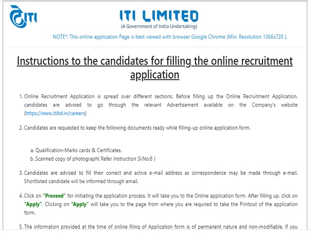 ITI Limited Recruitment 2021: Apply for Diploma Engineer Posts