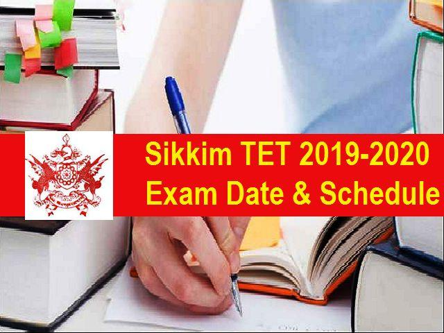 Sikkim TET 2019-20 Exam Date Out