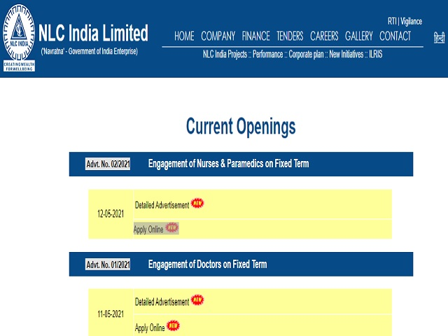 NLC India Limited Recruitment 2021: Apply Nurse, Male Nursing Assistant and Other Posts