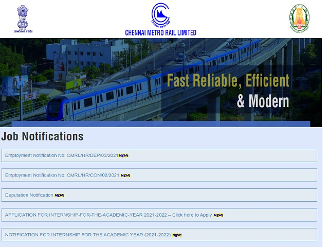 CMRL Recruitment 2021: Apply General Manager, Additional General Manager and Other Posts
