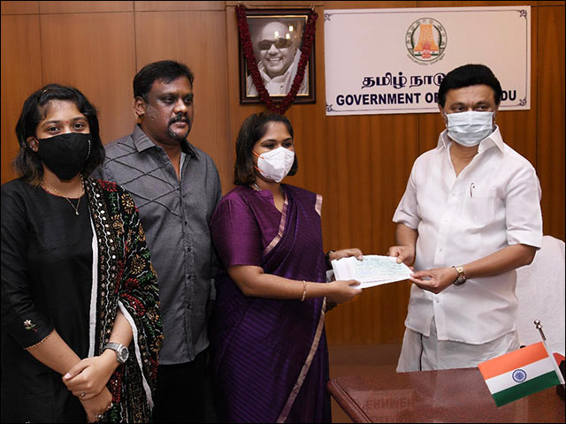 Sathyabama deemed university donated Rs.50 lakh to Chief Minister's Public Relief Fund