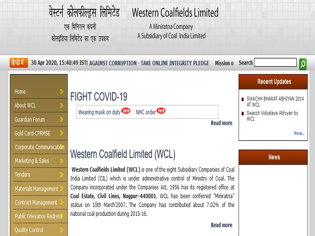 Western Coalfield WCL Recruitment 2021