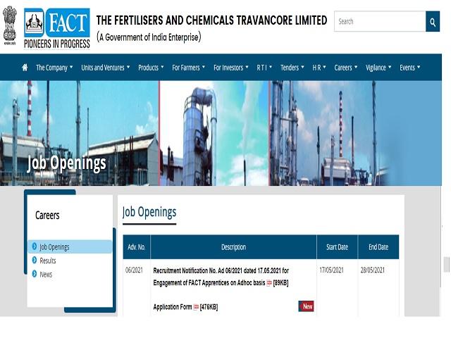 FACT Recruitment 2021: Apply Engineer Graduate Apprentice – Civil Posts