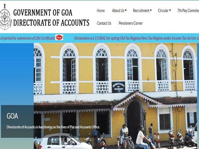 Goa Accounts Department Recruitment 2021