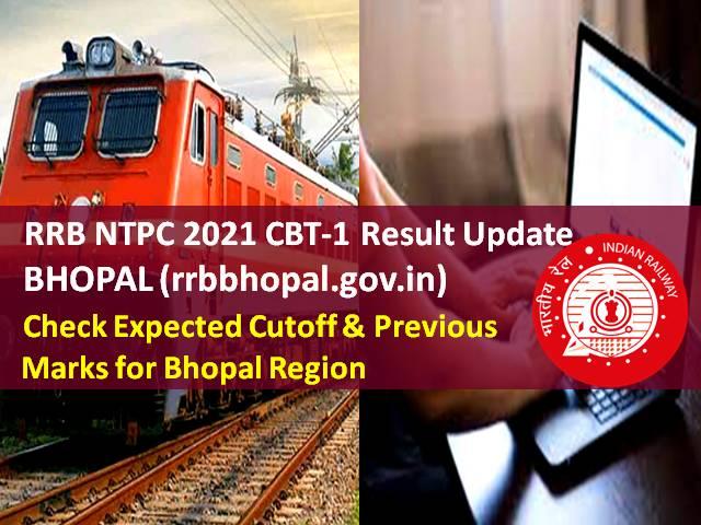 RRB NTPC Result 2021 @rrbbhopal.gov.in (CEN 01/2019)