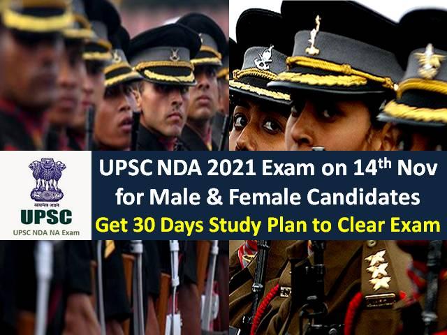 UPSC NDA 2021 Exam Study Plan (1 Month)