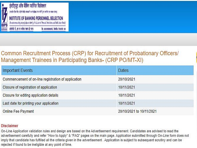 IBPS PO Recruitment 2021