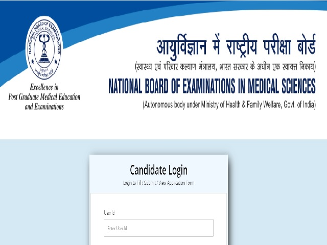 NBE Admit Card 2021 for Various Posts