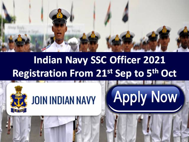 Indian Navy SSC Officer 2021 Registration Ends Today @joinindiannavy.gov.in: Check How to Apply Online for 181 Short Service Commission Vacancies