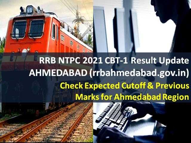 RRB NTPC Result 2021 @rrbahmedabad.gov.in (CEN 01/2019)