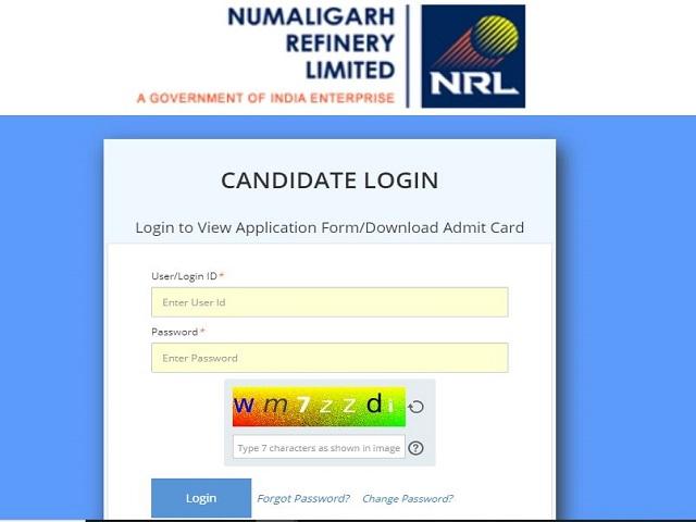 NRL Admit Card 2021