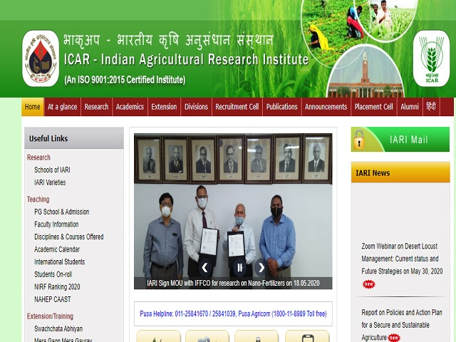 ICAR-Indian Agricultural Research Institute Job 2021