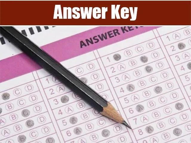 UPHJS Answer Key 2021