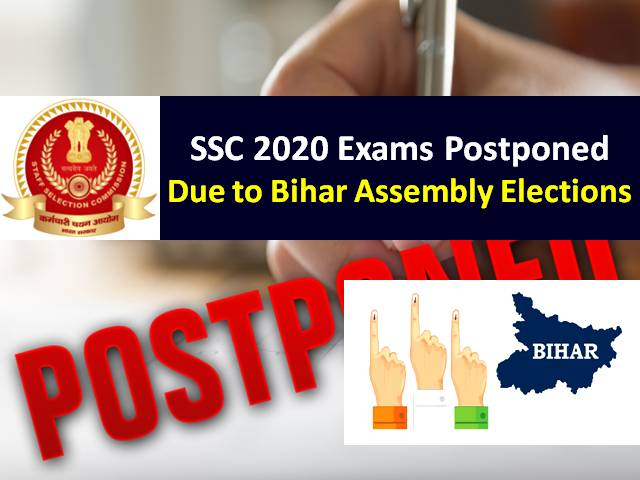 SSC Exams Rescheduled Due to Bihar Assembly Elections 2020: SSC JE 2019-20 (Paper-1) & SSC Phase-8 2020 Exams Postponed Only in Bihar, Check New SSC CGL 2019 & SSC Steno 2019 Exam Dates