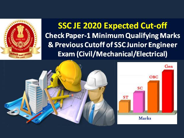SSC JE 2020 Expected Cutoff Marks (Result to be out soon @ssc.nic.in): Check Minimum Qualifying Marks & Previous Cutoff of SSC Junior Engineer Paper-1 (Civil/Mechanical/ Electrical)