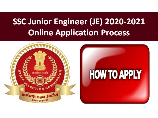 SSC Junior Engineer (JE) 2020-2021 Online Application Process: SSC JE 2020 Exam Registration @ssc.nic.in from 1st to 30th October