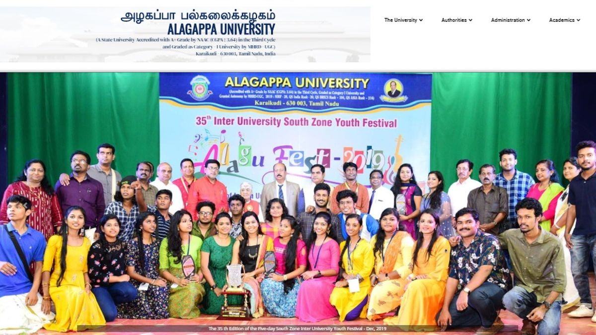 Alagappa University Assistant Professor, Professor and Other Posts 2020