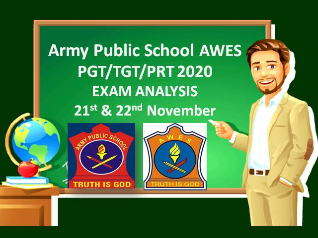 Army Public School (APS) AWES PGT/TGT/PRT 2020 Exam Analysis (21st & 22nd Nov): Check Difficulty Level of Online Screening Exam for Teacher Recruitment