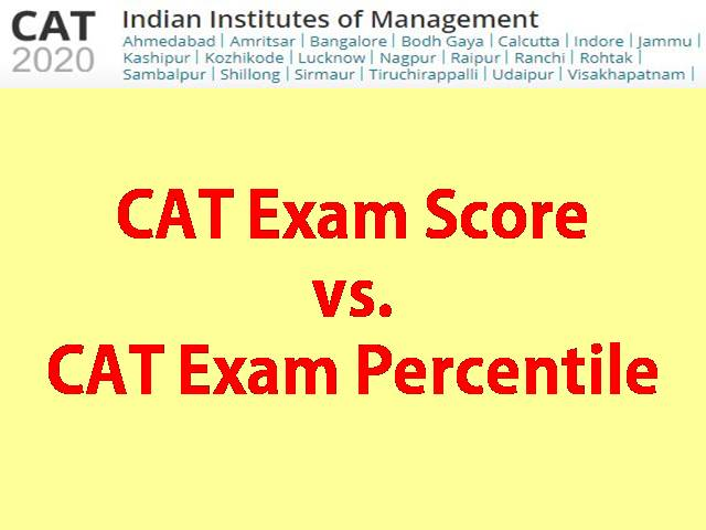 What exactly is the difference between CAT Score and Percentile?