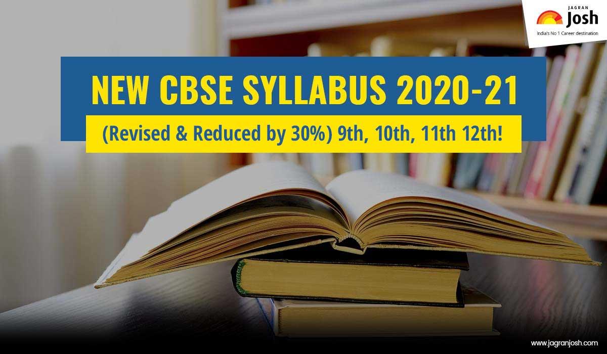 CBSE Syllabus 2020 - 2021